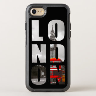 Einzigartiges Typografie-London-Stadt-Foto-Bild OtterBox Symmetry iPhone 7 Hülle