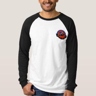 Einziger Stern-roter Stern, langer die Hülsen-T - T-Shirt
