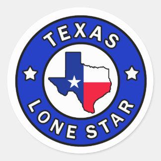 Einziger Sternaufkleber Texas Runder Aufkleber