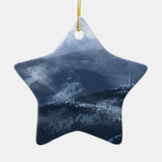 Eis-Affe Keramik Stern-Ornament