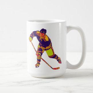 Eis-Hockey-Spieler (Mehrfarben), personalisierte Tasse