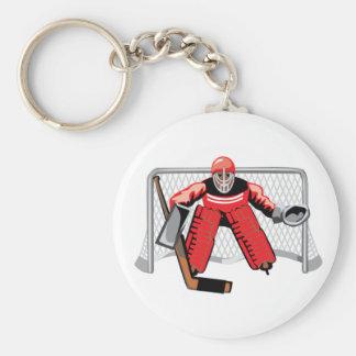 Eis-Hockey-Tormann Keychain Schlüsselanhänger