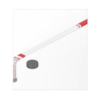 Eis-Hockeystock und -kobold Notizblock