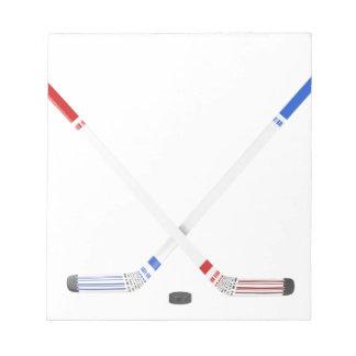 Eis-Hockeystöcke und -kobold Notizblock
