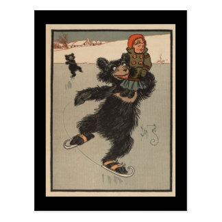 Eis-Skaten-Bär Postkarten