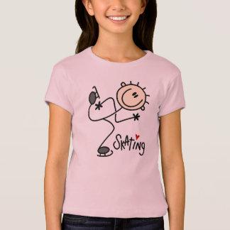 Eis-Skaten-Strichmännchen-T - Shirt