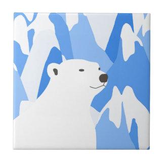 Eisbär im kalten Entwurf Keramikfliese
