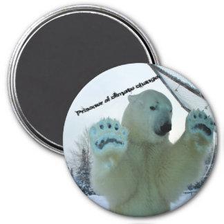 Eisbären sind Gefangene des Klimawandels Runder Magnet 7,6 Cm