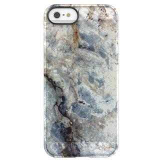 Eisblauweißes Marmorsteinende Permafrost® iPhone SE/5/5s Hülle