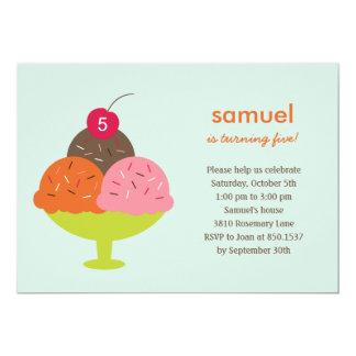 Eiscreme-Eiscremebecher-Geburtstags-Party 12,7 X 17,8 Cm Einladungskarte