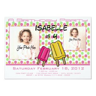 Eiscreme-Leckerei-Geburtstags-Foto 12,7 X 17,8 Cm Einladungskarte