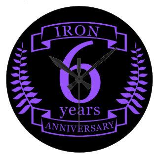 Eisen-Hochzeitstag 6 Jahre Uhren