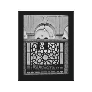 Eisen-Kunst und Moschee Leinwanddruck