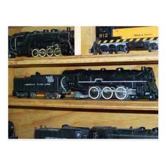 """Eisenbahn-Dampf-Motoren….""""Steamin auf """" Postkarte"""