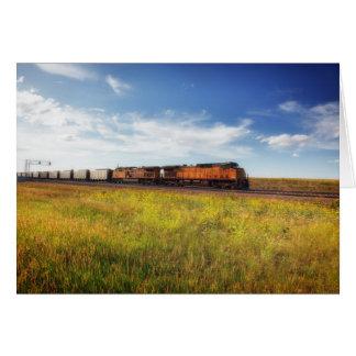 Eisenbahn-Zug-Montana-Landschafts-Foto-Anmerkung Karte