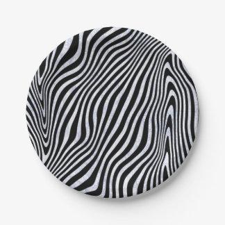 Eisige Zebra-Streifen Pappteller