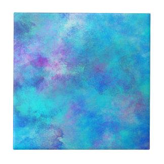 Eisiger blauer abstrakter Entwurf Keramikfliese