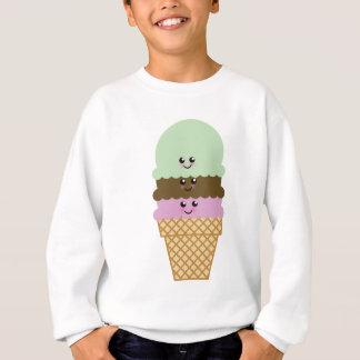 Eistüte Kawaii Kunst Sweatshirt