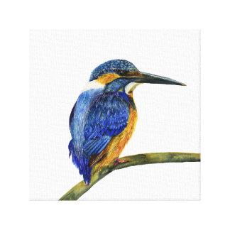Eisvogel-Vogel-Wasserfarbe-Malerei-Grafik-Druck Leinwand Druck