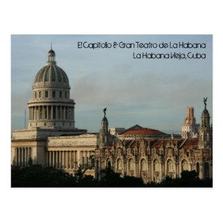 EL Capitolio u. Gran Teatro, Havana, Kuba Postkarte