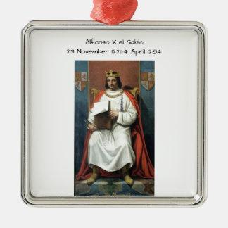 EL Sabio Alfonsos x Silbernes Ornament