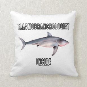 Elasmobranchologist Innere (Weißer Hai) Kissen