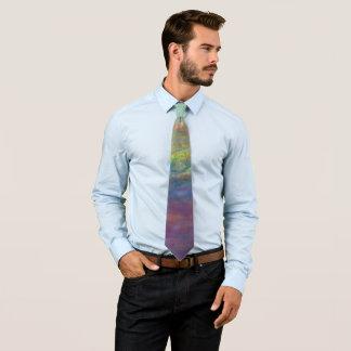 Elastischer ROYGBIV Regenbogen abstraktes Trendy Individuelle Krawatte