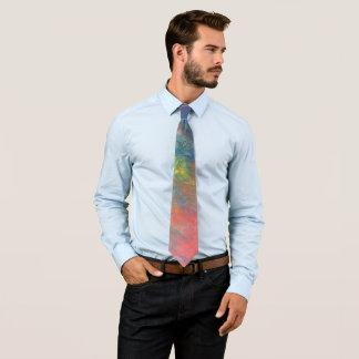Elastischer ROYGBIV Regenbogen abstraktes Trendy Individuelle Krawatten