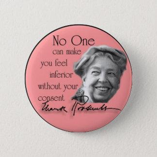 Eleanor Roosevelt - First Lady der Welt Runder Button 5,7 Cm