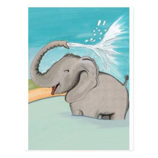 Elefant AVAL Postkarte