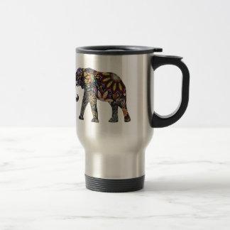 Elefant bunt reisebecher