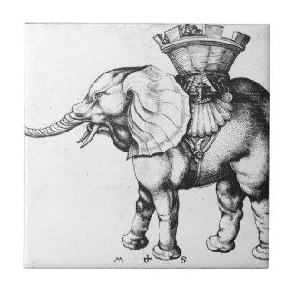 Elefant durch Martin Schongauer Fliese