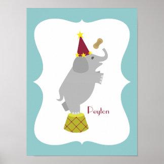 Elefant + Erdnuss-personalisierte Poster