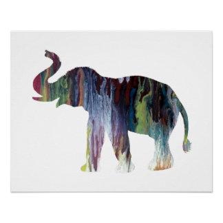Elefant-Kunst Poster