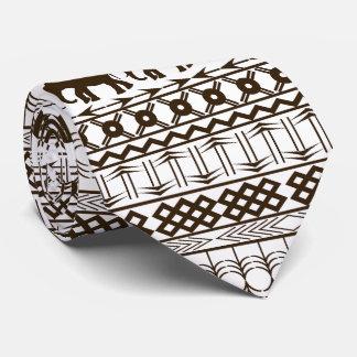 Elefant-Motiv, afrikanischer Entwurfs-horizontale Krawatte