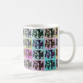 Elefant-Pop-Kunst-Tasse Tasse