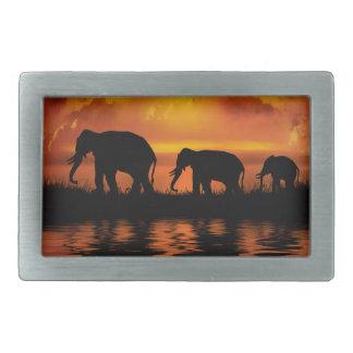 Elefant-Safari Rect Gürtelschnalle
