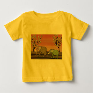Elefant-Sonnenuntergang Baby T-shirt