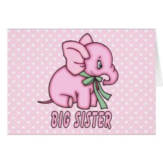 Elefant-Spielzeug-große Schwester Karte
