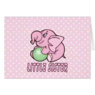 Elefant-Spielzeug-kleine Schwester Karte