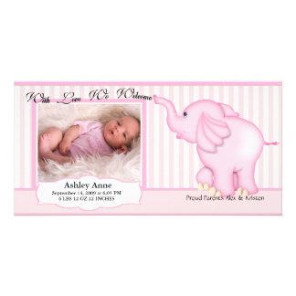 Elefant-süße Baby-Geburt Photogrußkarten