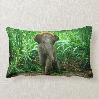 Elefant und Gras Lendenkissen