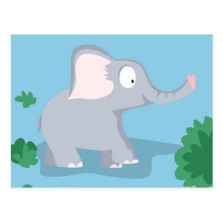 Elefant von meinem Welttiere serie Postkarte