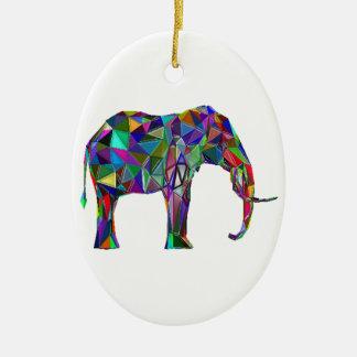 Elefant-Wiederbelebung Ovales Keramik Ornament