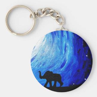 Elefanten unter Mondschein (K.Turnbull Kunst) Schlüsselanhänger