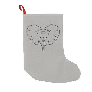 Elefantgesichts-Silhouette Kleiner Weihnachtsstrumpf