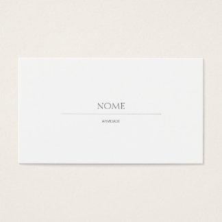 Elegant 2 Weiß Visitenkarten