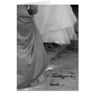 Elegant danke für Sein meine Brautjungfern-Karte Grußkarte