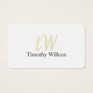 Elegant Minimalistisches Weiß Runde Ecken Visitenkarte