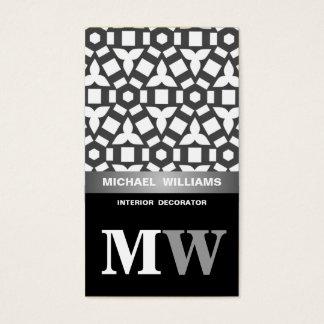 Elegant schwarzweiß visitenkarten